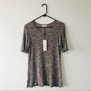 Feel The Piece Space Dye Ribbed Tee XS/ Small